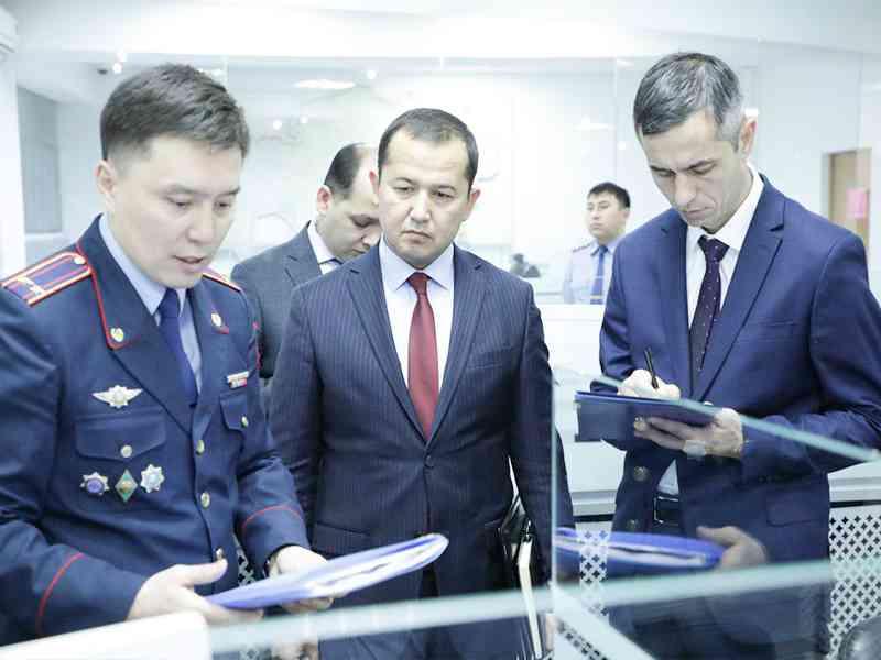 Сотрудники ГУВД г. Ташкента ознакомились с деятельностью полиции г. Нур-Султана